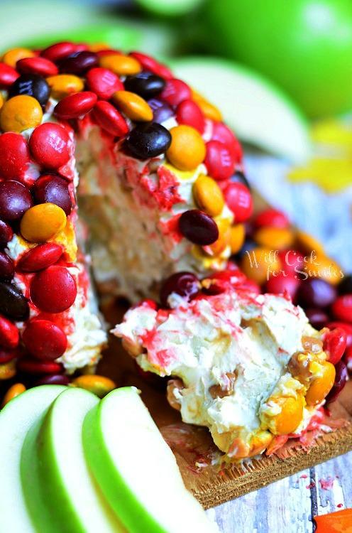 M&M Caramel Apple Dessert Cheese Ball 3 (c) willcookforsmiles.com #apple #caramel #dessert #shop