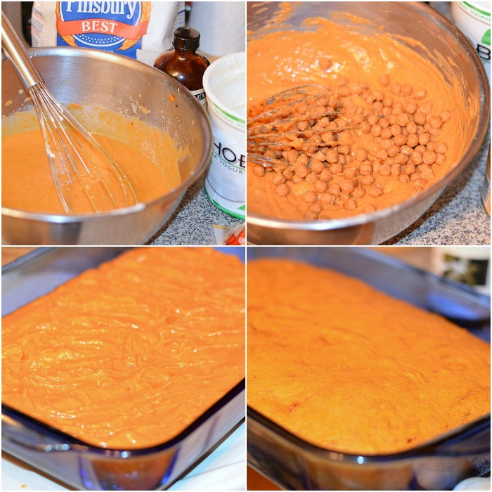 Pumpkin Caramel Blondies Collage