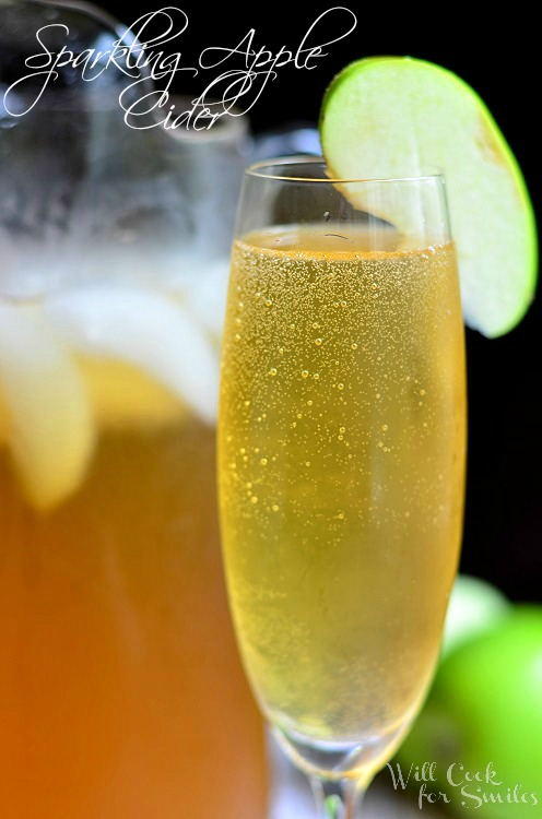 Sparkling Apple Cider 1 (c) willcookforsmiles.com #drink #applecider #shop