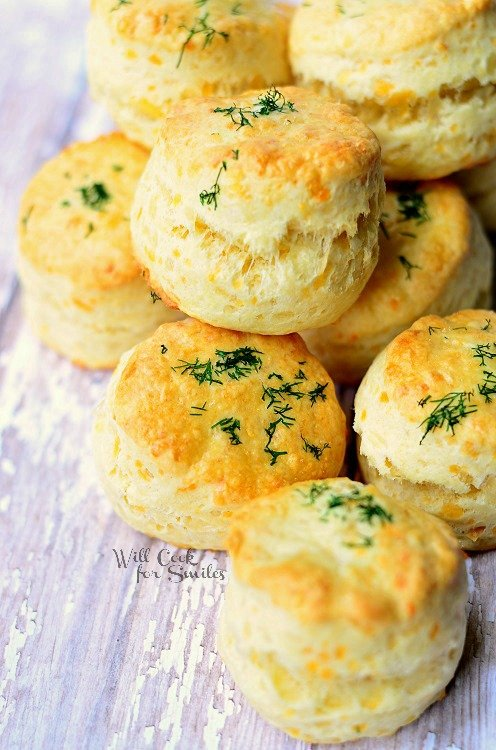 Three Cheese Dinner Scones (c) willcookforsmiles.com #scones #cheese