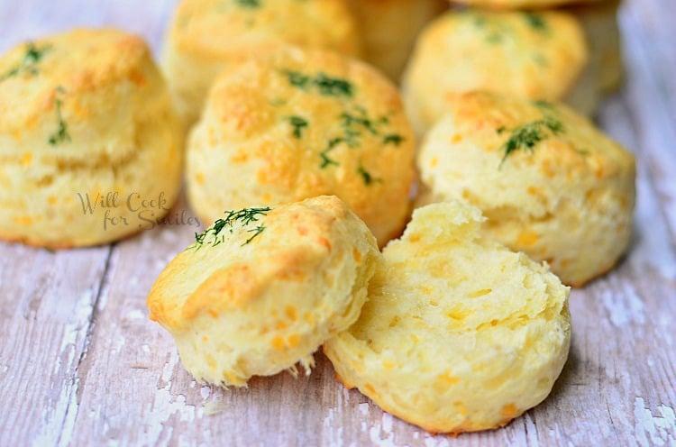 Three Cheese Scones 1 (C) willcookforsmiles.com #scones #cheese