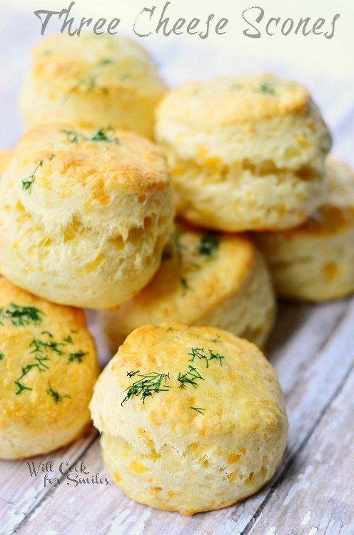 Three Cheese Scones 2 (c) willcookforsmiles.com #cheese #scones