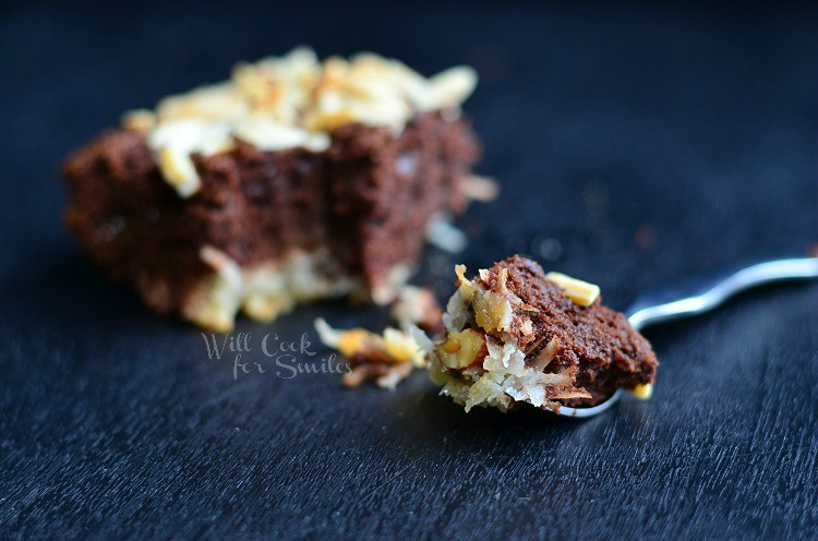 Almond Joy Brownies 3  from willcookforsmiles.com #brownies #coconut #almondjoy