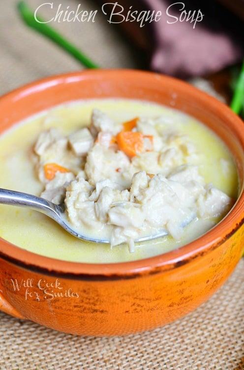Chicken Bisque Soup 2 © willcookforsmiles.com #soup #chicken #bisque