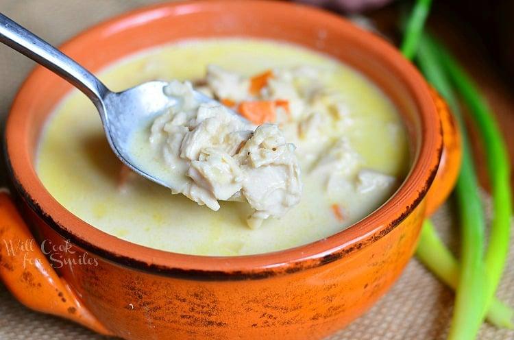 Chicken Bisque Soup 3 © willcookforsmiles.com #soup #chicken #bisque