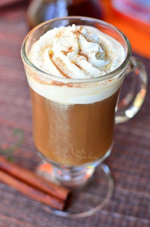 Cinnamon Dolce Coffee Drink © willcookforsmiles.com #cinnamon #latte #coffee 1