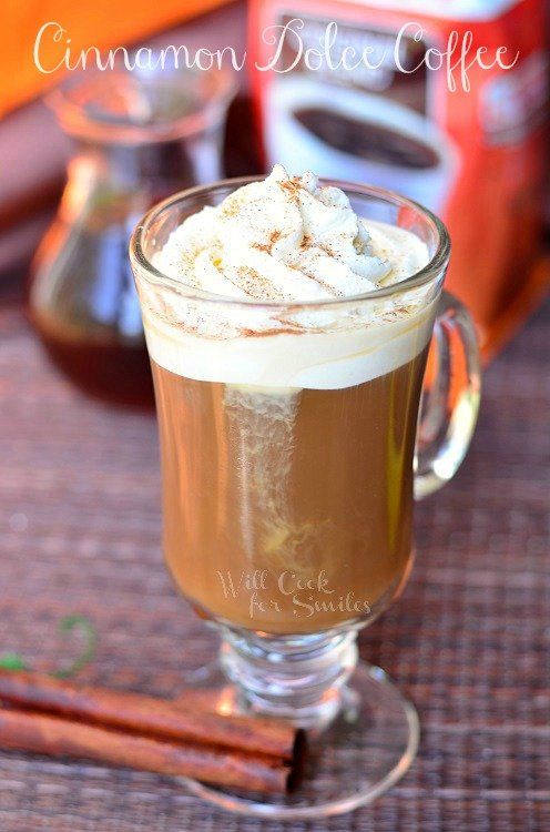 Cinnamon Dolce Coffee Drink © willcookforsmiles.com #cinnamon #latte #coffee