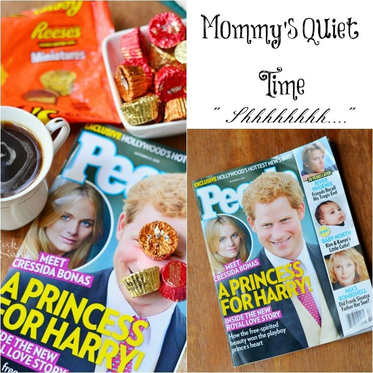 Mom's Time Out with Hershey's Dish candy and PEOPLE Collage