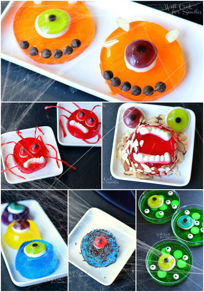 Monsters Bash JELL-O Jigglers 1 fun Halloween party idea from willcookforsmiles.com #halloween #monster