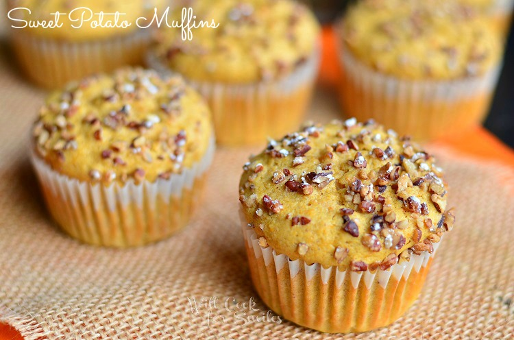 Sweet Potato Muffins 1 © willcookforsmiles.com #muffins #sweetpotato