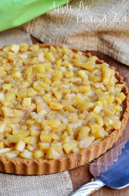 Apple Pie Custard Tart 2 from willcookforsmiles.com #tart #custard # ...