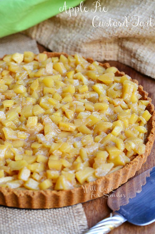 Apple Pie Custard Tart | Pies VS. Tarts Food Fight - Will Cook For ...