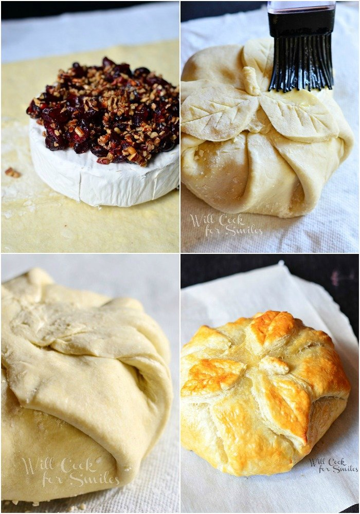 Cranberry Maple Baked Brie Collage