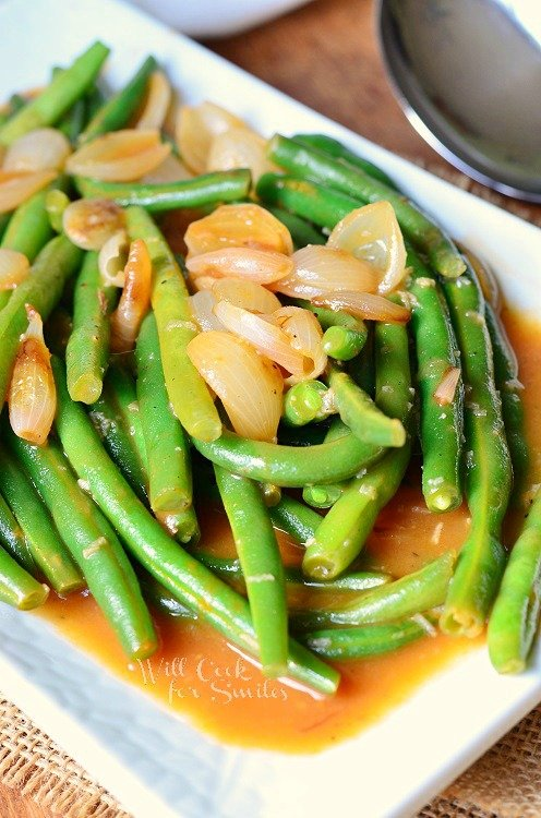 French Onion Green Beans 3 from willcookforsmiles.com #greenbeans #sidedish