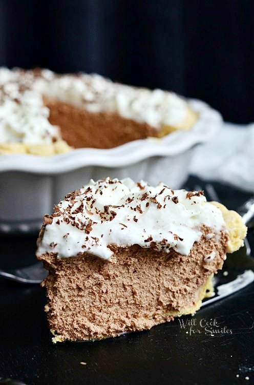 French Silk Pie 2 from willcookforsmiles.com #pie