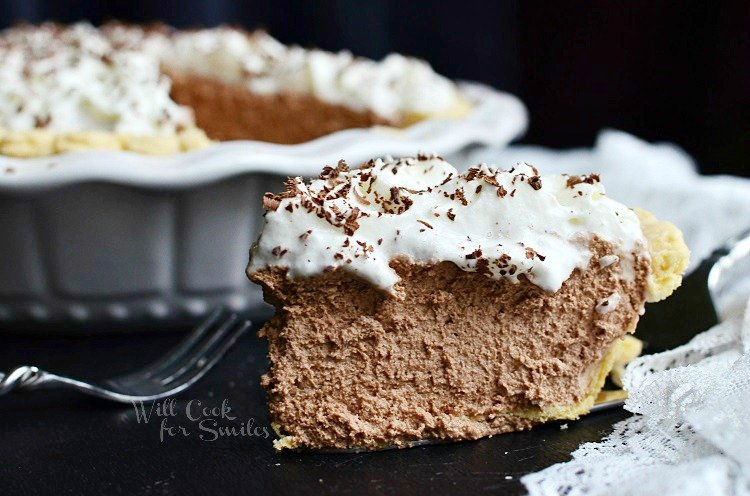 French Silk Pie 3 from willcookforsmiles.com #pie