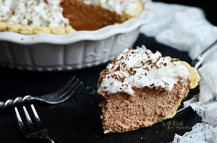 French Silk Pie 4 from willcookforsmiles.com #pie