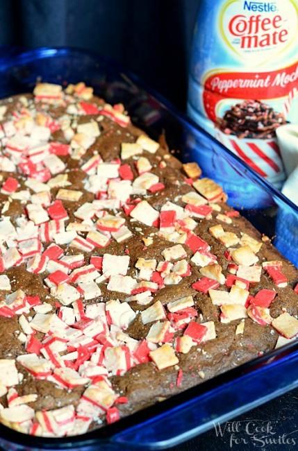 Peppermint Mocha Brownies  from willcookforsmiles.com #brownies #peppermint #dessert