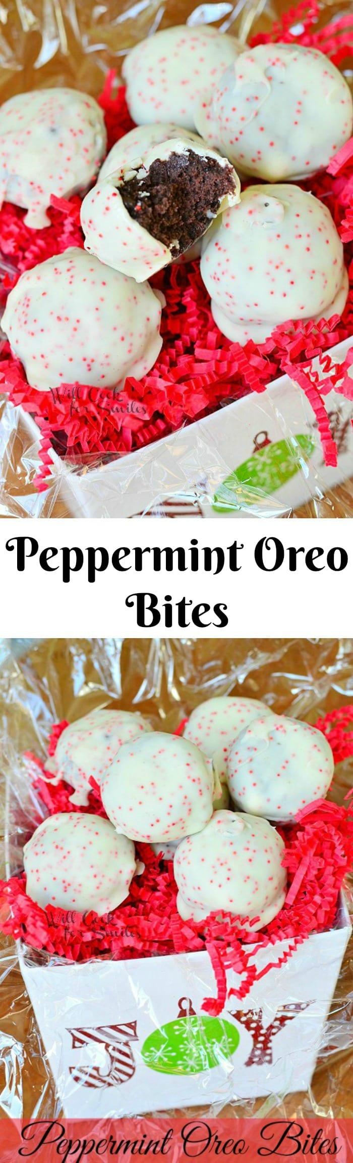 Peppermint Oreo Bites