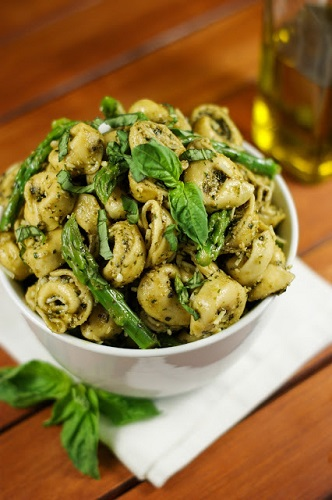Pesto Tortellini Salad with Asparagus-6
