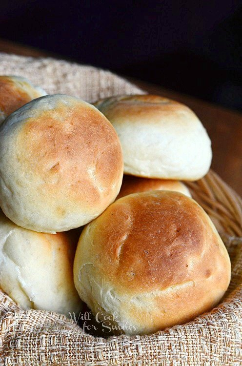 Potato Dinner Rolls 4 from willcookforsmiles.com #bread #rolls