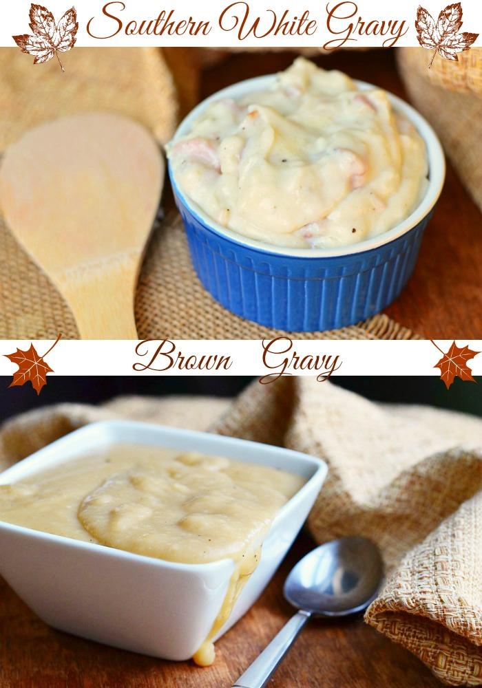 White Gravy and Brown Gravy Collage