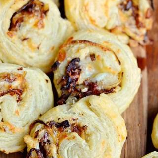 Caramelized Onion Cheesy Pinwheels