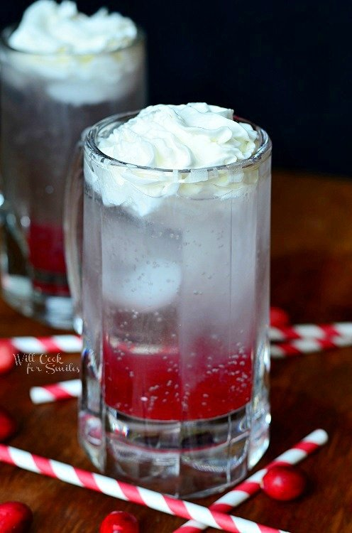 Cranberry Italian Soda 1 from willcookforsmiles.com #cranberry #italiansoda