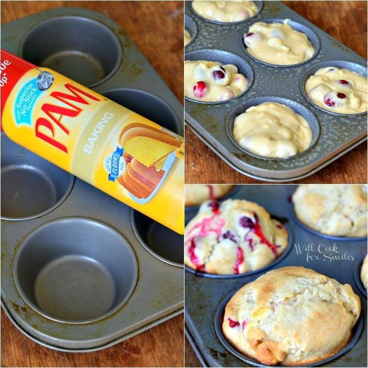 Cranberry White Chocolate Chip Muffins