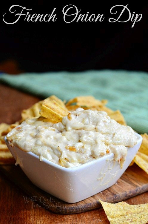 French Onion Dip 2 from willcookforsmiles.com #dip #frenchonion