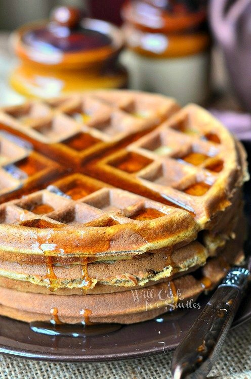 Gingerbread Waffles 1 from willcookforsmiles.com #waffles #gingerbread
