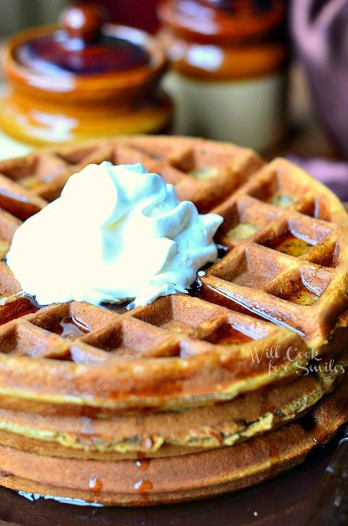 Gingerbread Waffles 2 from willcookforsmiles.com #waffles #gingerbread