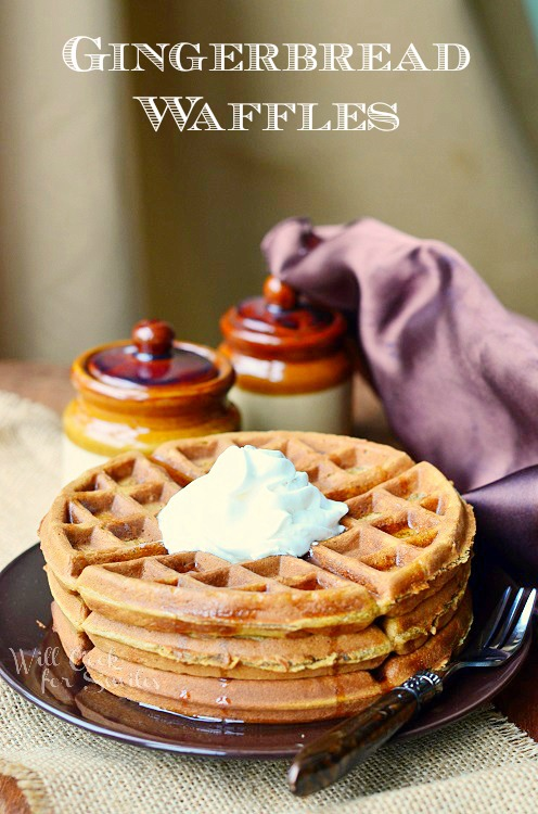 Gingerbread Waffles 3 from willcookforsmiles.com #waffles #gingerbread