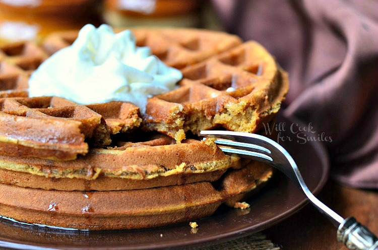 Gingerbread Waffles 4 from willcookforsmiles.com #waffles #gingerbread