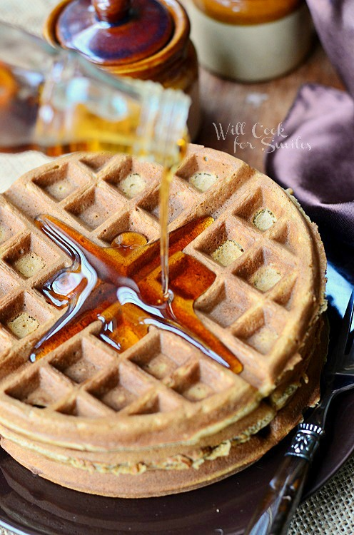 Gingerbread Waffles from willcookforsmiles.com #waffles #gingerbread