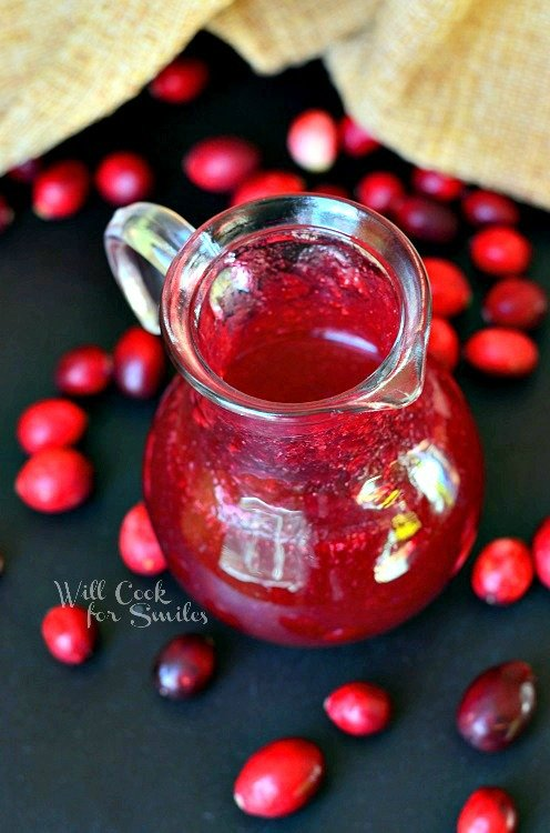 Homemade Cranberry Syrup 3 from willcookforsmiles.com #syrup #cranberry