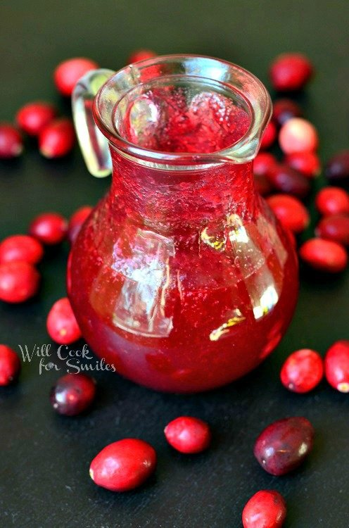 Homemade Cranberry Syrup |  from willcookforsmiles.com #syrup #cranberry
