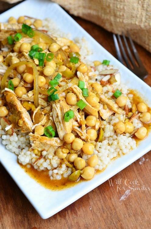 Slow Cooker Moroccan Chicken 1 from willcookforsmiles.com #chicken #slowcooker