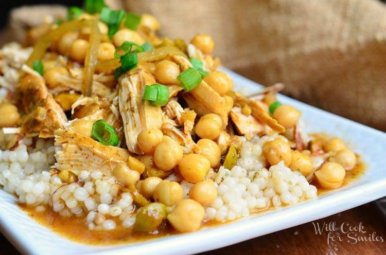 Slow Cooker Moroccan Chicken 2 from willcookforsmiles.com #chicken #slowcooker