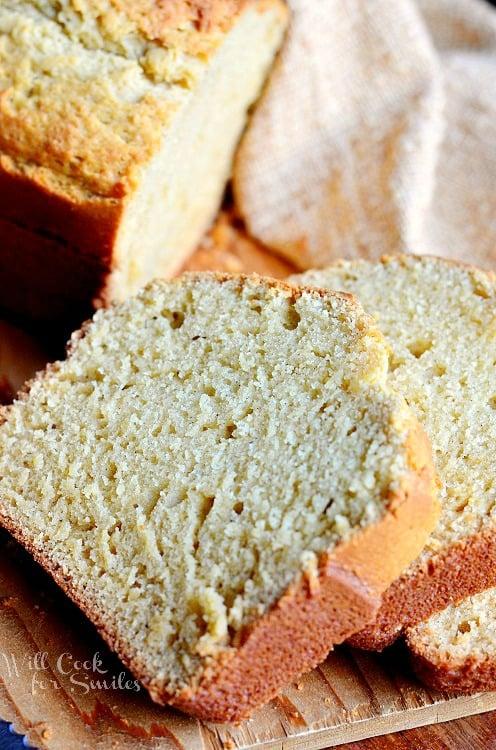 Vanilla Bean Eggnog Bread 1 from willcookforsmiles.com #eggnog #bread #vanilla