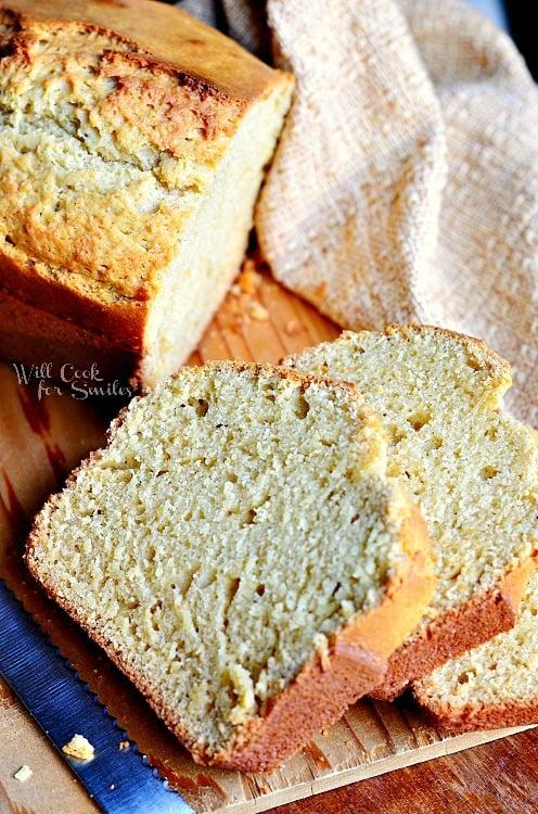 Vanilla Bean Eggnog Bread 2 from willcookforsmiles.com #eggnog #bread #vanilla