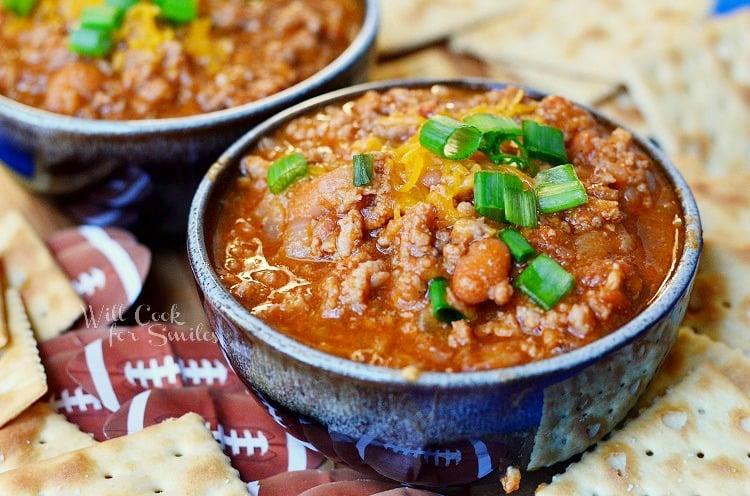 Boozy Chili Recipe 1 from willcookforsmiles.com #chili