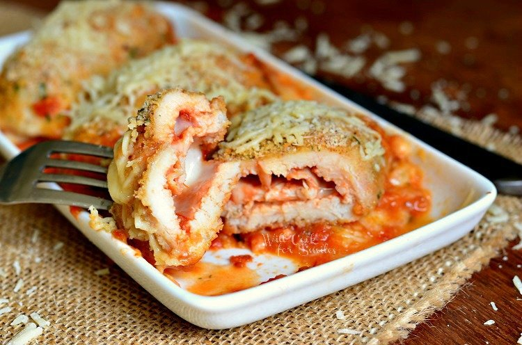 Chicken Parmesan Roll Ups 2 from willcookforsmiles.com #chicken #chickenparmesan #chickenrollups
