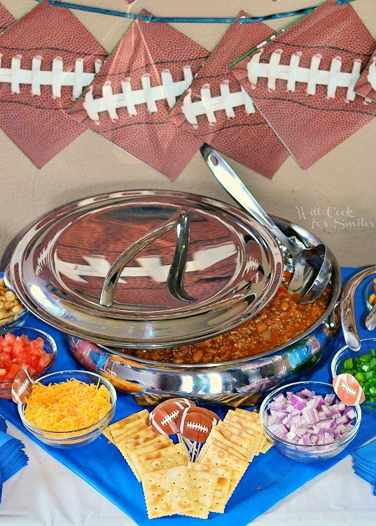 Chili Bar For A Football Party 1  from willcookforsmiles.com #chili