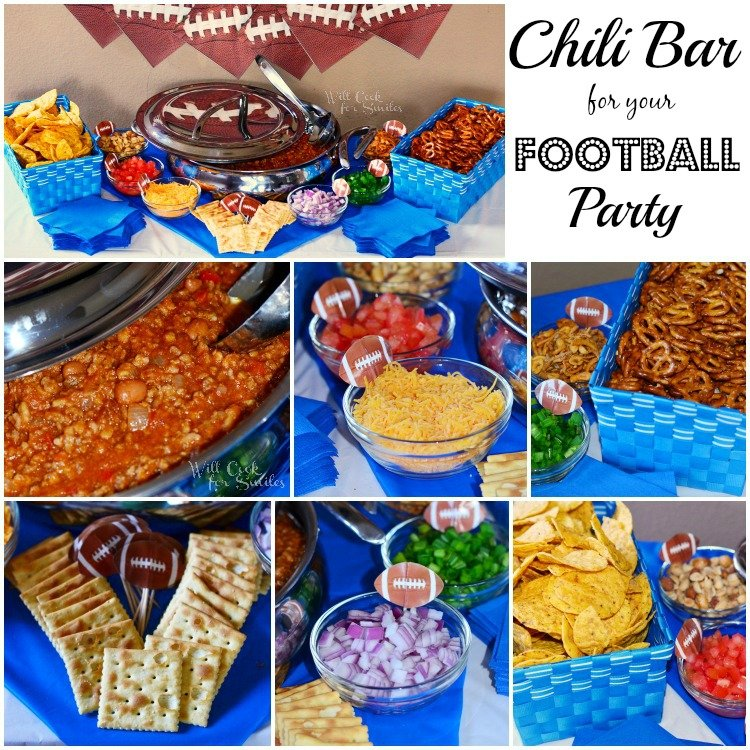 Chili Bar for a Football Party