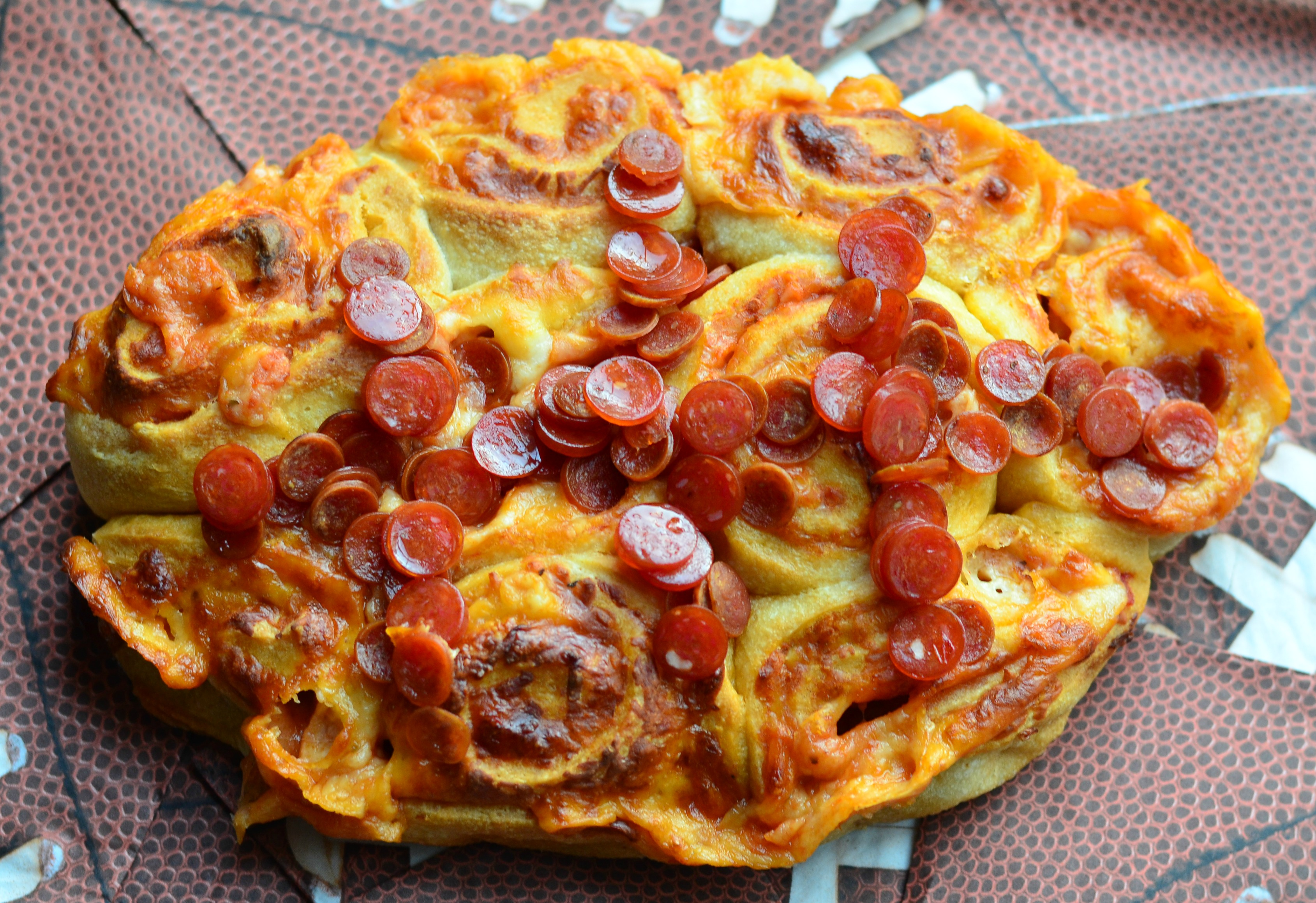 Easy Football Pizza Pinwheels - Will Cook For Smiles