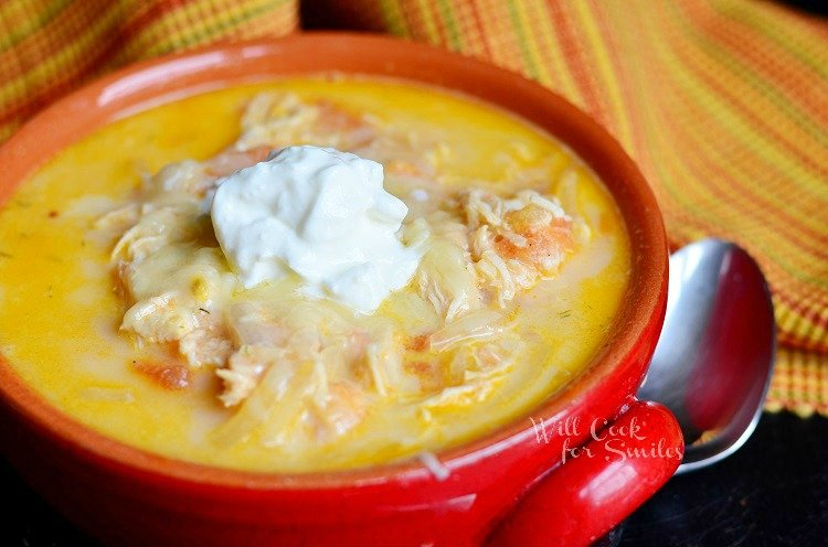 Homemade Enchilada Soup 2 from willcookforsmiles.com #soup #chicken