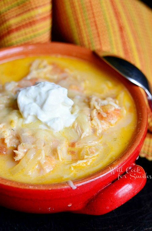 Homemade Enchilada Soup  from willcookforsmiles.com #soup #chicken