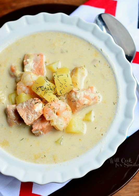 Seafood Chowder Soup 1 from willcookforsmiles.com #seafood #soup #chowder