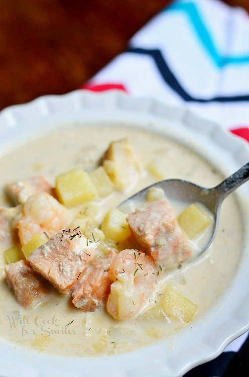 Seafood Chowder Soup 3   from willcookforsmiles.com #seafood #soup #chowder